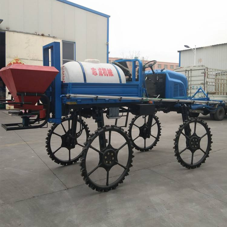 全新自走式喷杆喷雾器棉花水稻杀虫喷药机柴油大型喷洒机 转向灵活
