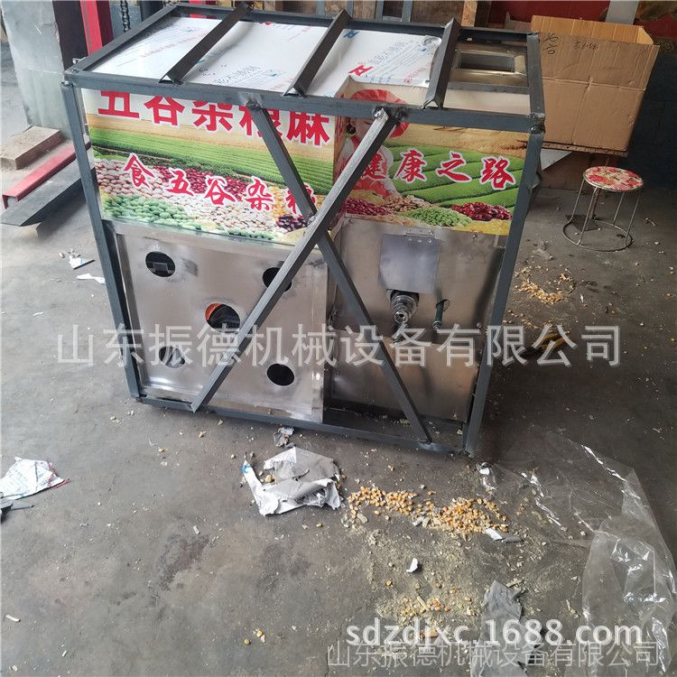 厂家定做暗仓汽油四缸杂粮膨化机 7用香酥糖棒机 振德 江米棍机
