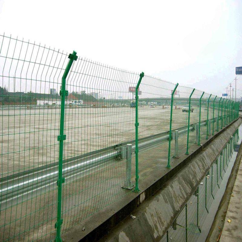 聚光厂家直销@高速公路护栏网@定制双边丝防护网