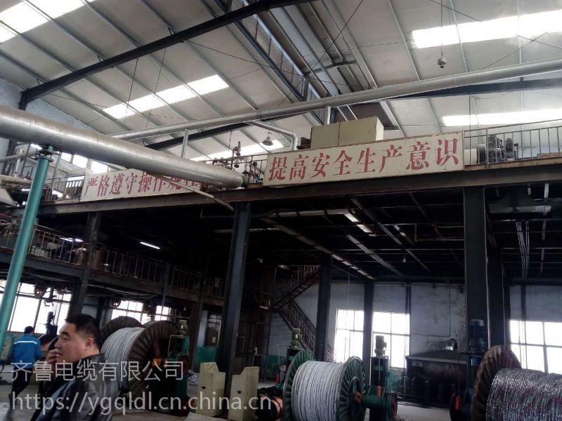 供应齐鲁牌裸铜线多芯交联塑料绝缘聚氯乙炔护套光缆 YJV22-B级 1*6