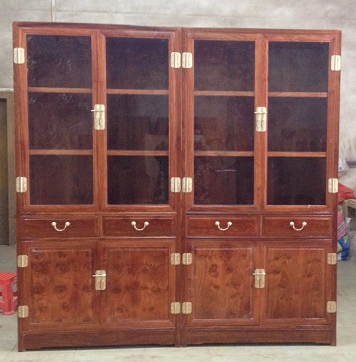云南红木家具刺猬紫檀新中式办公室书柜款式价格