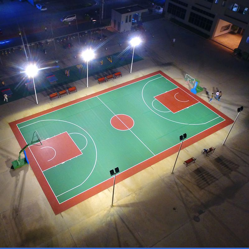 柏克体育--室外球场地面、篮球架、球场灯光案例