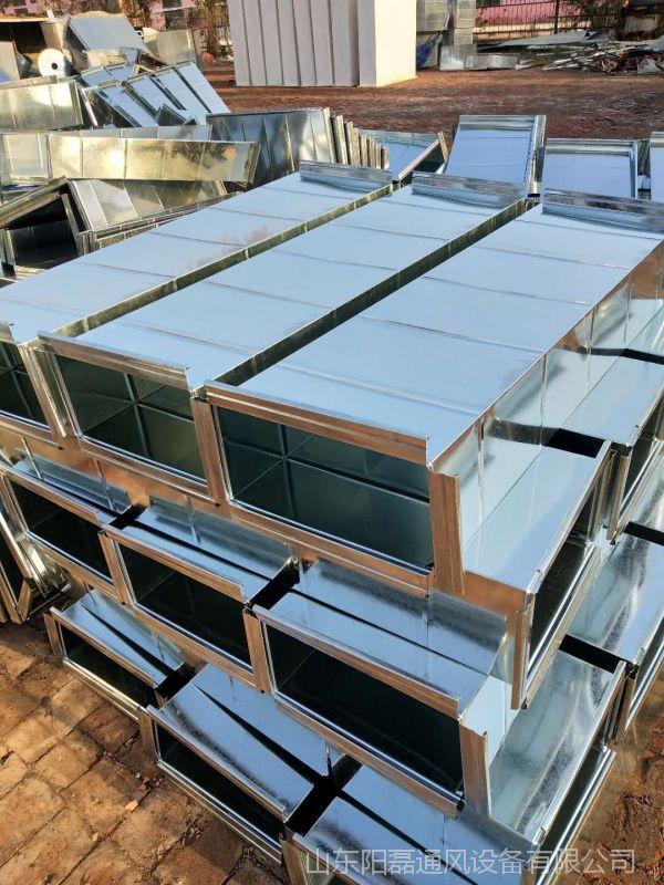 厂家直销 镀锌板风管加工 共板角铁法兰白铁板风管 通风管道