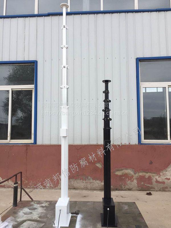车载电动升降杆 铝合金传送器 邦信2.5米自动升降杆 河南厂家