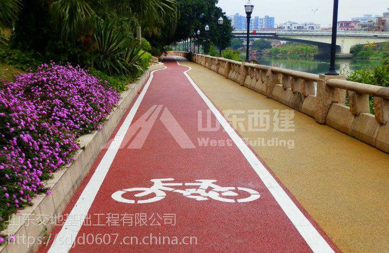 武汉市混凝土透水地坪建径河艺术地坪