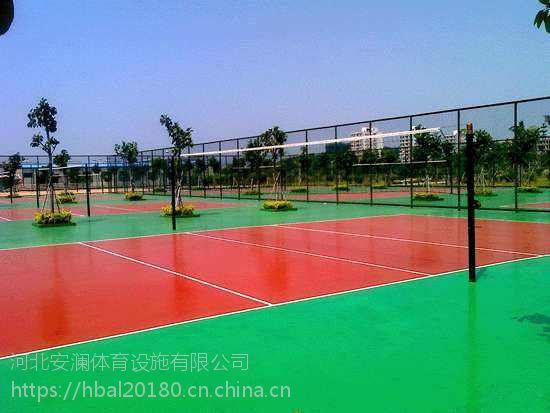 石家庄硅PU篮球场。EPDN运动跑道工程施工