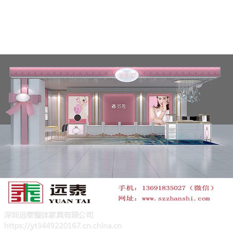 珠宝展示柜效果图|深圳展柜厂|高端定制化妆品展示柜|美容院展柜设计