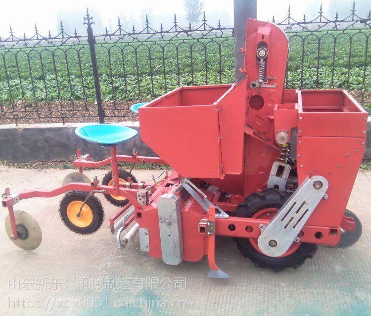 带马铃薯专用喷药施肥播种 覆膜机单垄双行土豆播种机