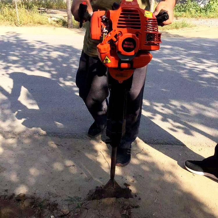 园林移栽挖树机价格 便携式汽油苗木断根机 铲头式汽油挖树机