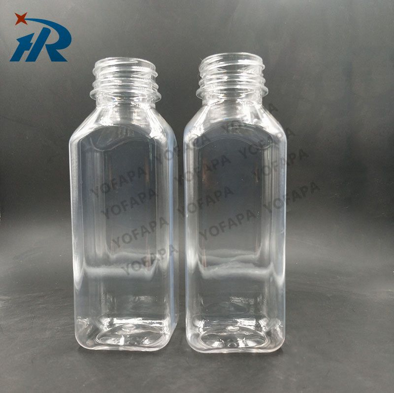 厂家直销350ml塑料方瓶PET果汁瓶一次性环保塑料瓶