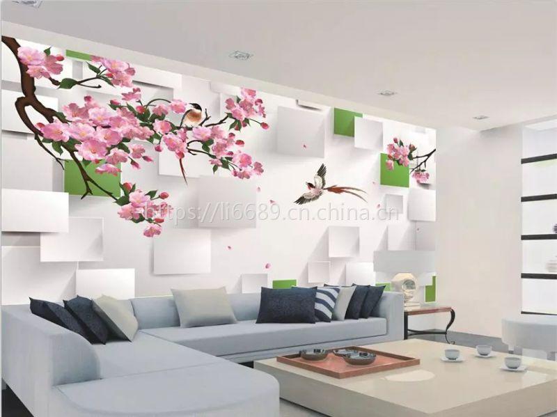 《个性墙纸壁纸定制/品牌电视背景墙纸加工》墙纸定制东莞优雅壁画厂