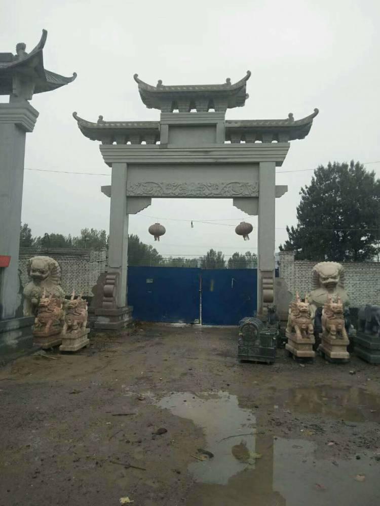 花岗岩牌坊金玉石雕加工厂 贵州石门楼制作价格优《金玉石材》