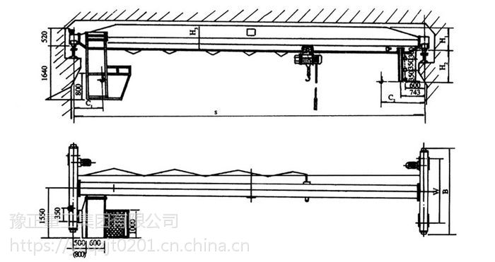 四川10吨单梁桥式起重机厂家—豫正起重