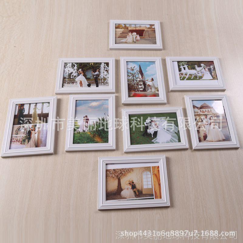 新款生活照片墙九宫格7寸组挂墙9个相框墙婚纱影楼相片墙宫格定做