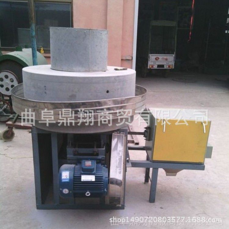 玉米面粉石磨机   大型电动石磨磨粉机 小麦面粉石磨机 养生石磨