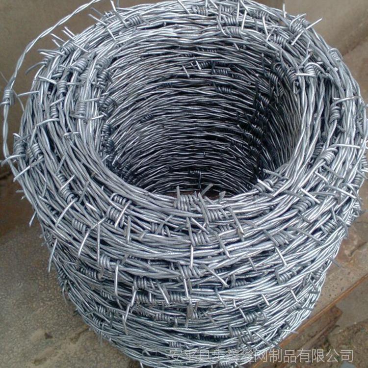步鑫热镀锌钢丝刺绳 刺铁丝铁蒺藜 防爬防盗刺丝网