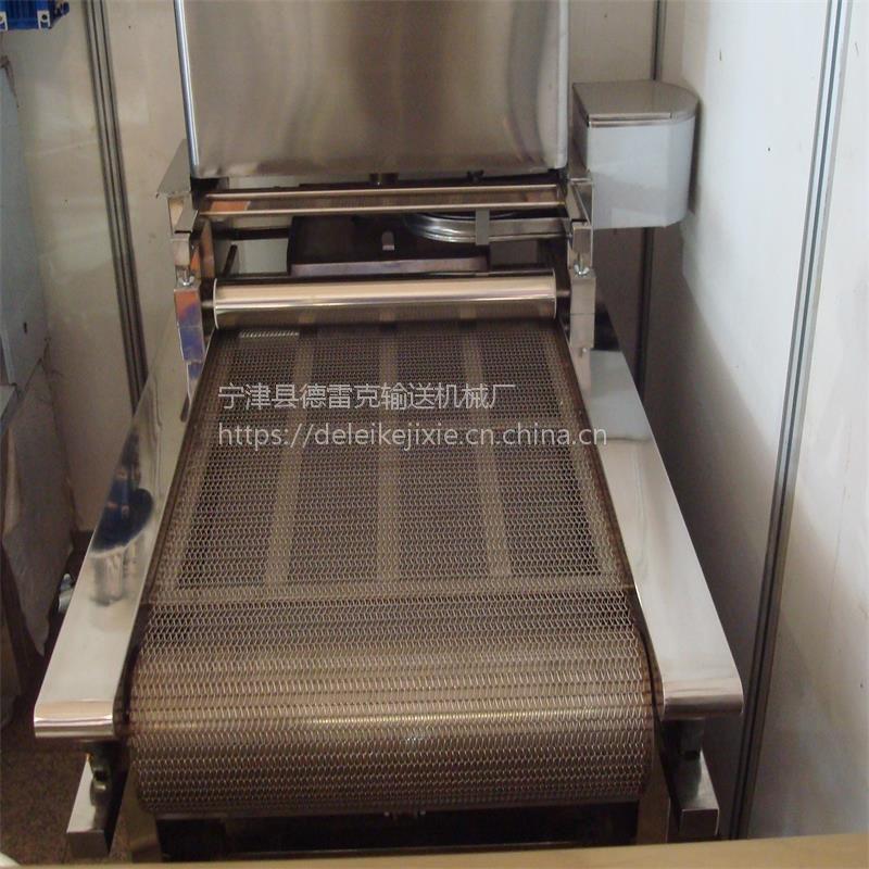 辽宁网带输送机 不锈钢食品输送机 定做网链输送线
