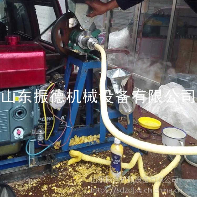 振德 玉米空心棒膨化机 多功能大米麻花 机 商用苞米花机