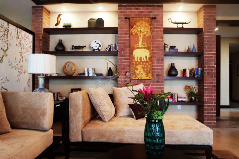 东南亚风格装修设计实景图|天古装饰设计师艾柯约克郡作品展示