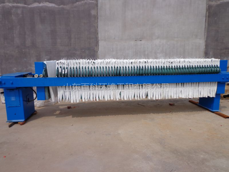 山东百科板框厢式污泥脱水压滤机