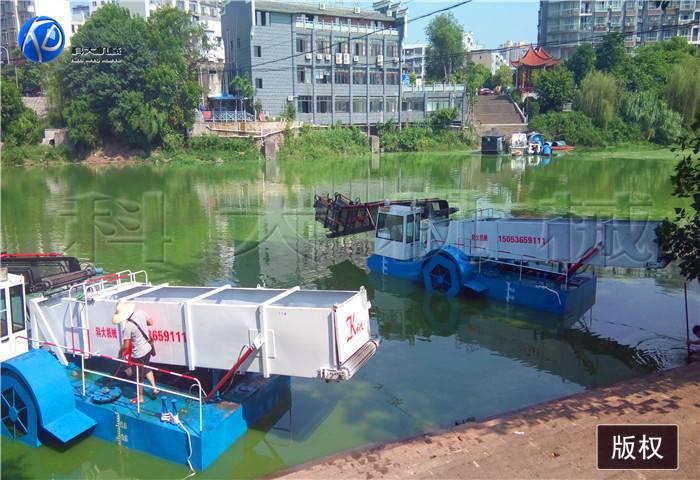 湖面打捞水草机械 垃圾清理运输船
