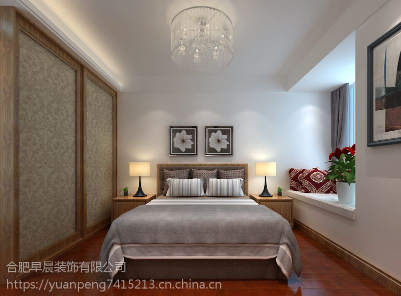 【山水装饰集团早晨装饰】蓝光禹州城三房现代设计