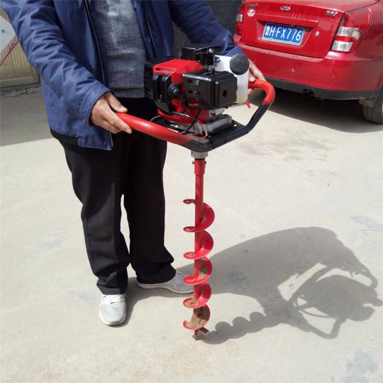 小型桩孔打桩机 螺旋式挖坑机 汽油便携式打眼机