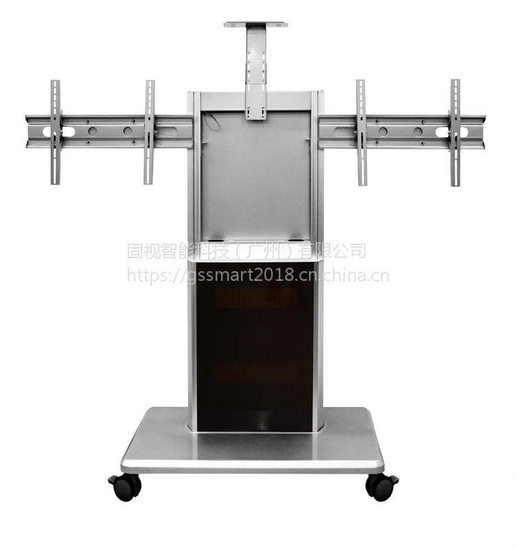固视LP880T双屏推车适用65寸以下显示屏会议室展会商场通用