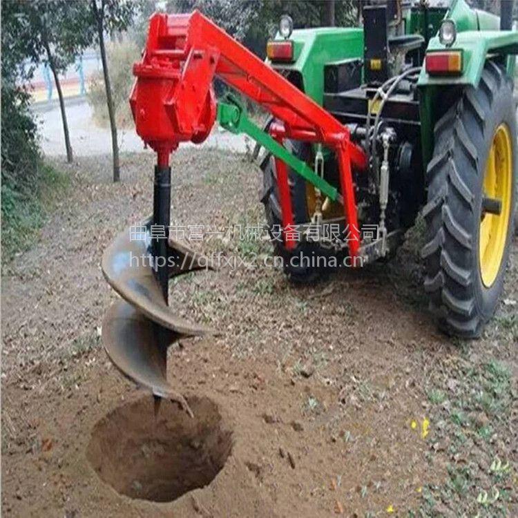 果树施肥打眼机 富兴牌地面挖坑机促销 立柱打孔机图片
