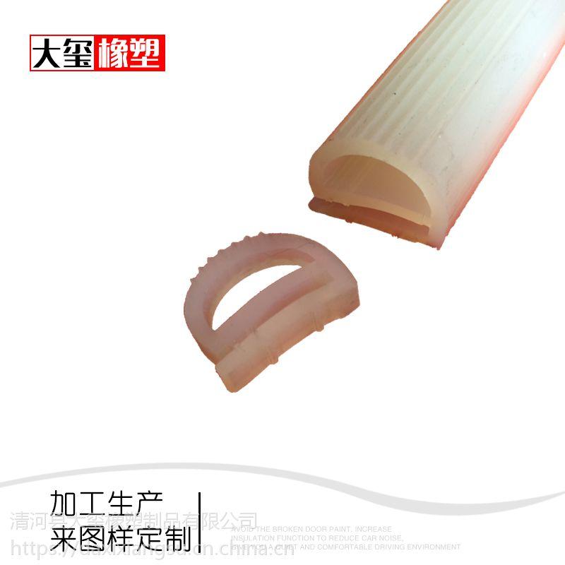 大玺硅胶密封条 烤箱用耐高温密封条 e型硅胶胶条厂家