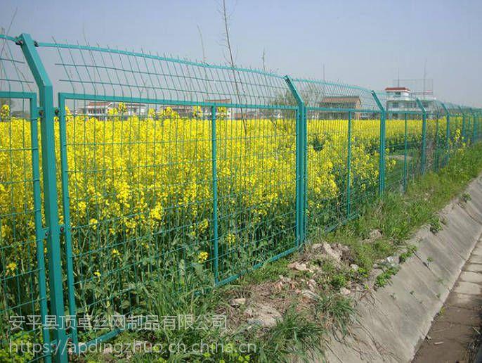 河北框架护栏网 双边丝铁丝网围栏 高速公路隔离网厂家 耐腐蚀 抗老化