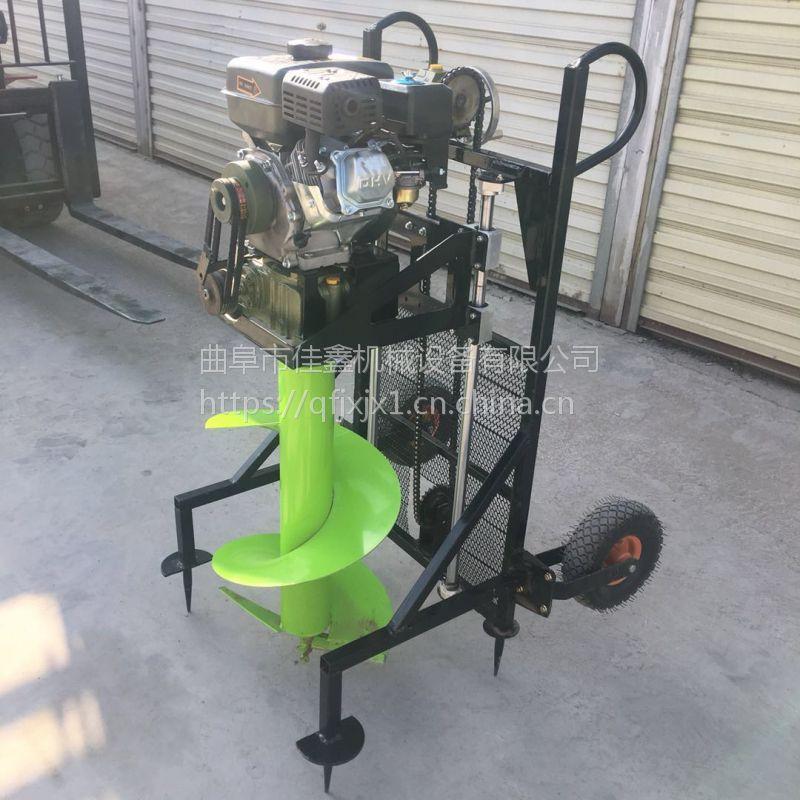 葡萄种植挖坑机厂家 佳鑫手推式钻眼机 新款汽油打坑机
