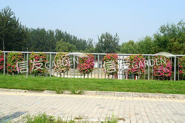 供应立面护栏花盆 高架桥花盆花箱 经久耐用