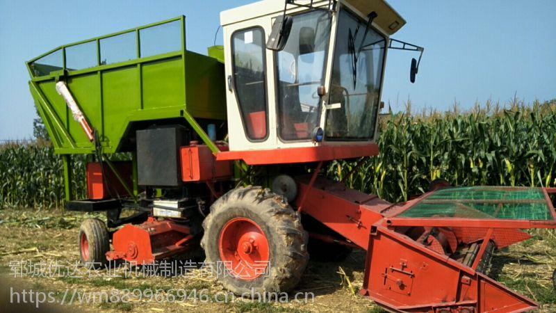 青储用大型收割打捆一体机 自走式粉碎捡拾机 麦秸秆捡拾打捆包膜一体机