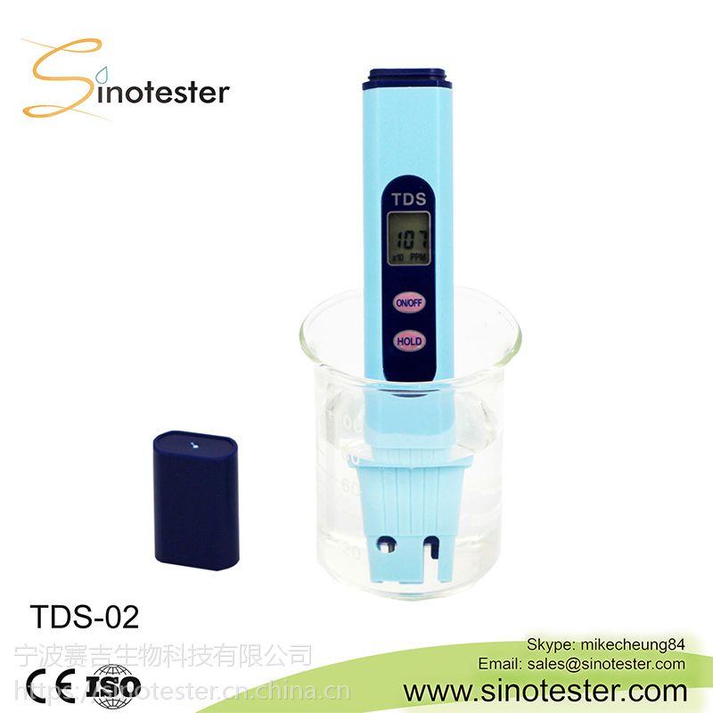 TDS-02 笔式测试计监测范围大自动关机数字保持温度补偿