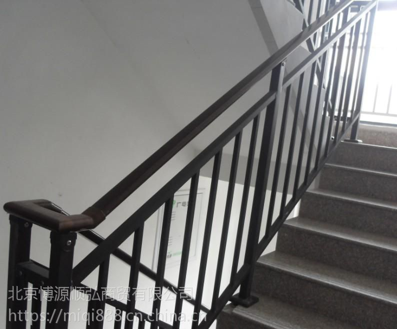 HC安新锌合金楼梯扶手,Q235安新仿木纹靠墙扶手,组装式楼梯护栏,烤漆阳台围栏,镀锌钢围栏