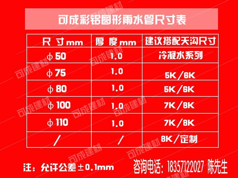 广东中山铝合金成品天沟厂家直销别墅金属雨水管哪里卖