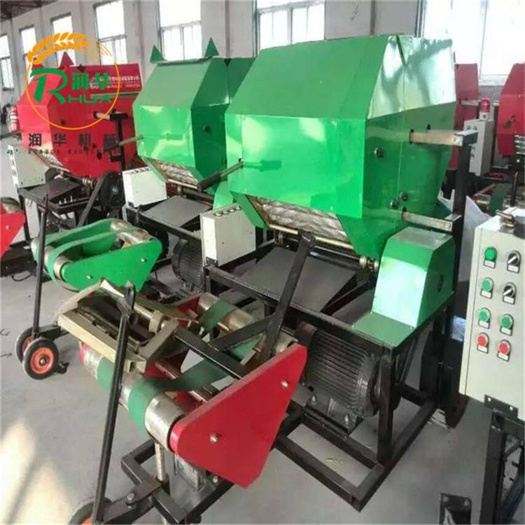 全自动青贮打包机 牧草打捆包膜机 麦草稻草打捆机