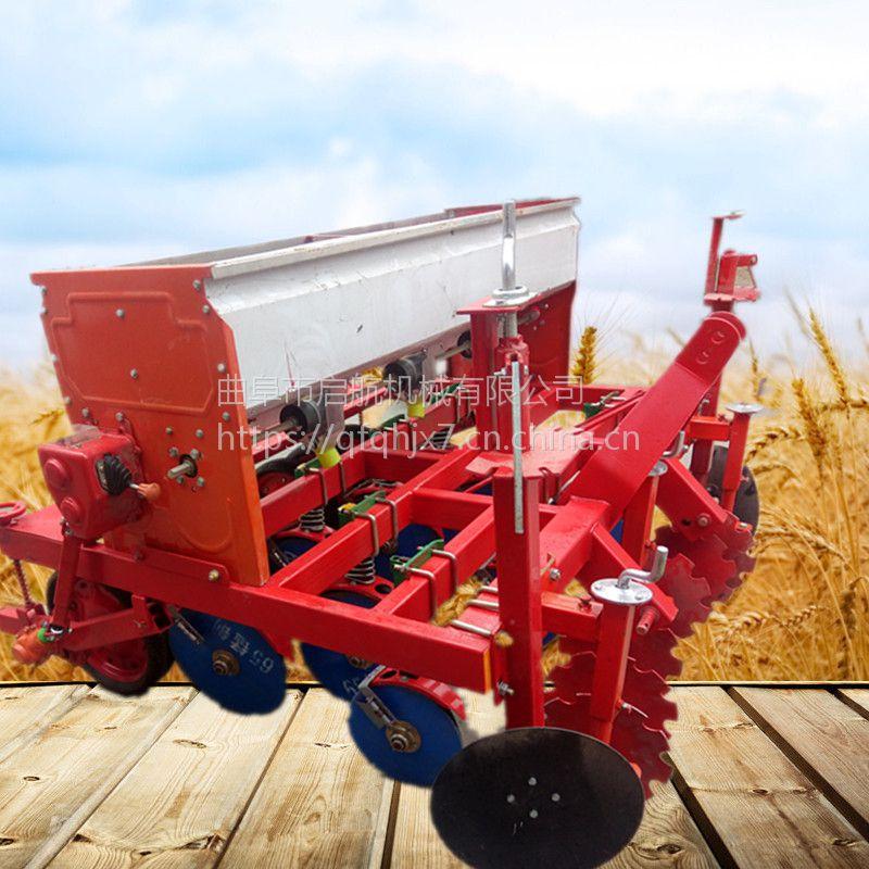 谷子专用精量播种机多少钱 人力高粱播种机厂家 启航四行蔬菜穴播机