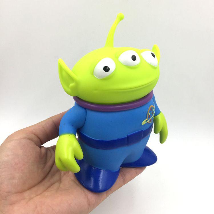 厂家定制,玩具总动员 外星人 三眼仔 公仔 搪胶 摆件