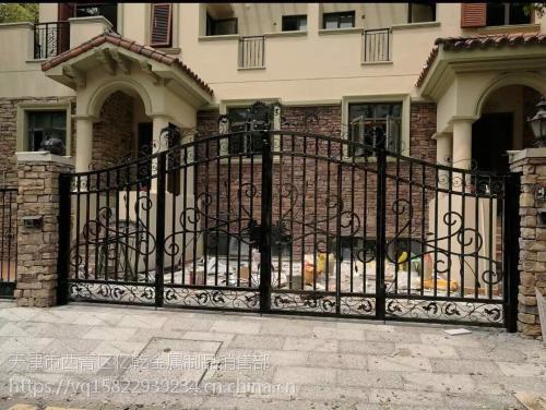 铁艺围栏厂家 铁艺大门,铁艺护栏 天津市铁艺牌楼