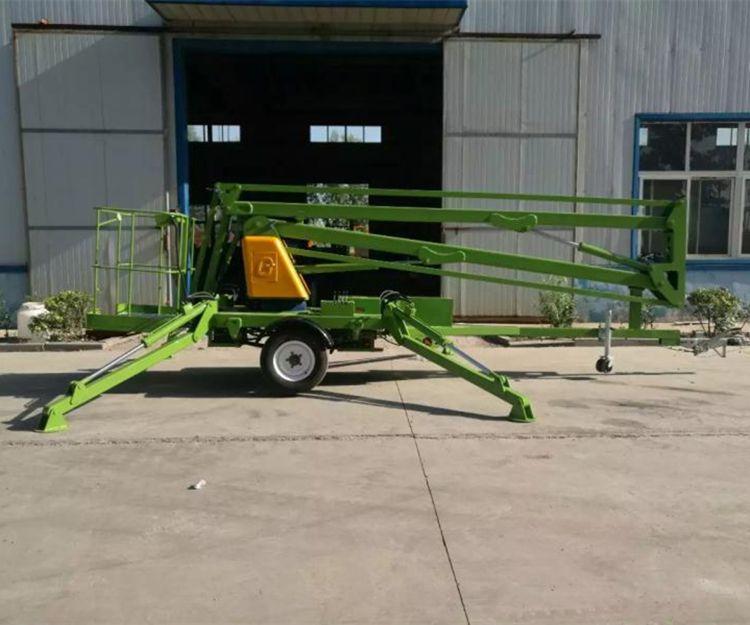 工厂直销品牌TGZ-12M拖车折臂式升降机 可旋转式高空作业车