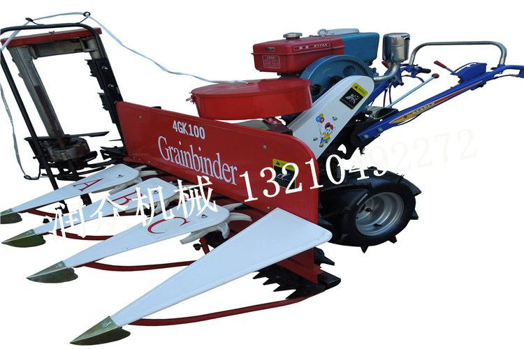 农用割水稻 割小麦手推机器 宽幅农作物割晒机 润众