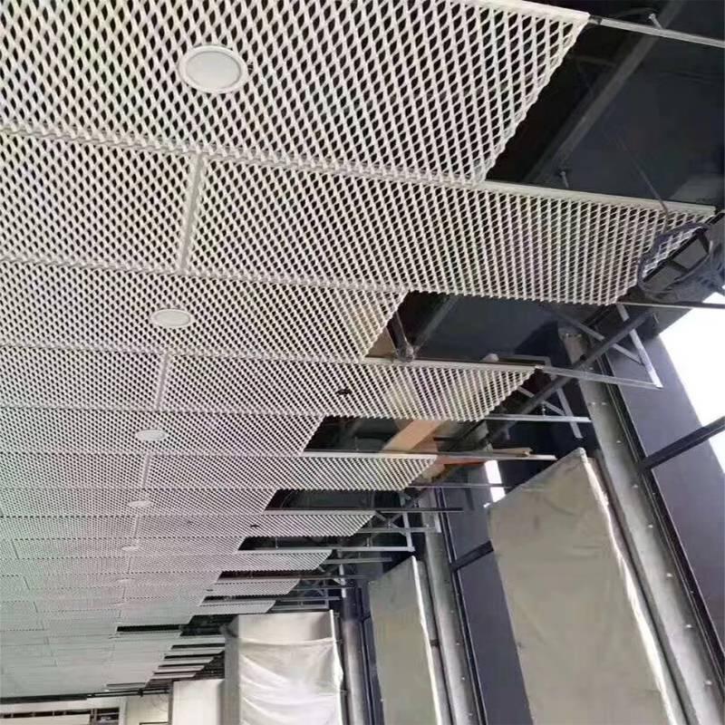 室内装饰拉伸网吊顶安装施工图 广东佛山欧百建材公司