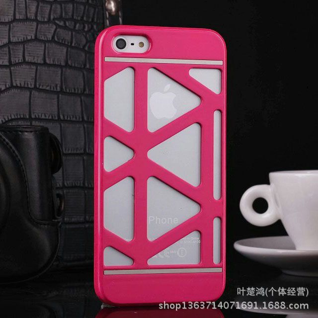 新款iphone5555s魅力镂空外壳保护套超薄4/4s手机壳个性拖鞋网壳亚麻苹果夏季图片