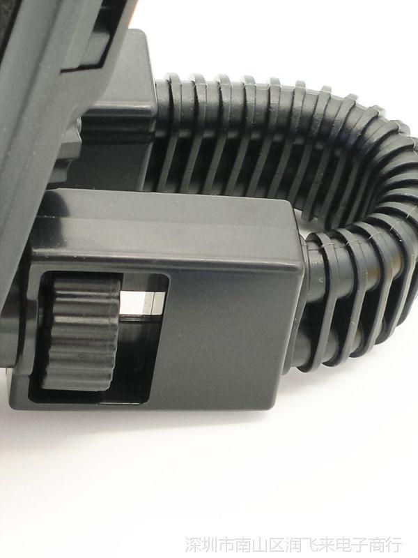 摩托车自行车手机支架 通用型鹰爪铁杆防脱落手动锁加固式支架