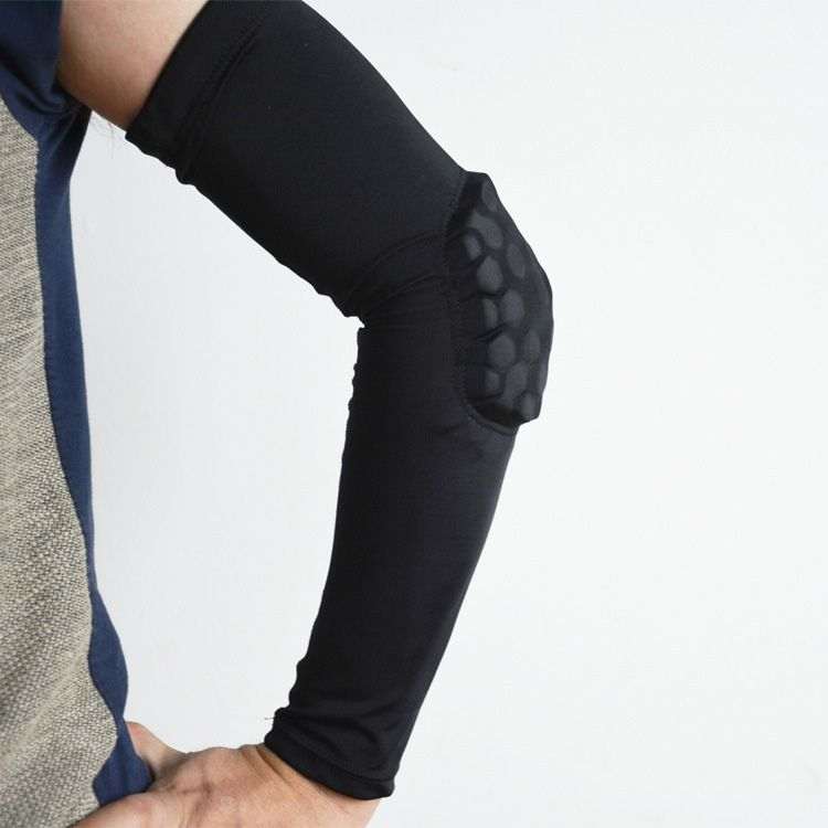 定制莱卡防撞蜂窝护肘 薄款篮球排球足球运动护肘 东莞运动护具生产厂家