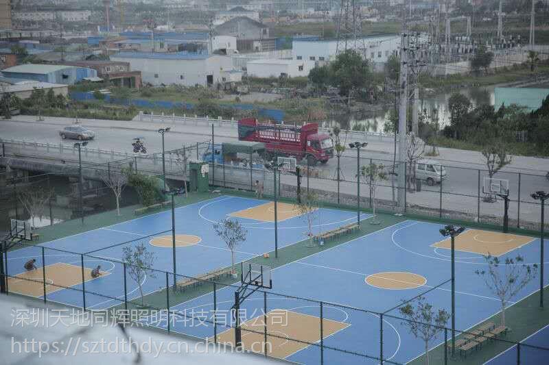 室外篮球场网球场照明露天网球场地灯具选择网球场灯光布置方案