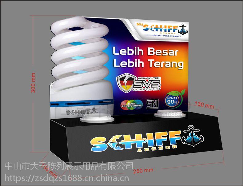 厂家定做 E27老化灯头LED试灯台 迷你双灯头节能灯桌面小展台