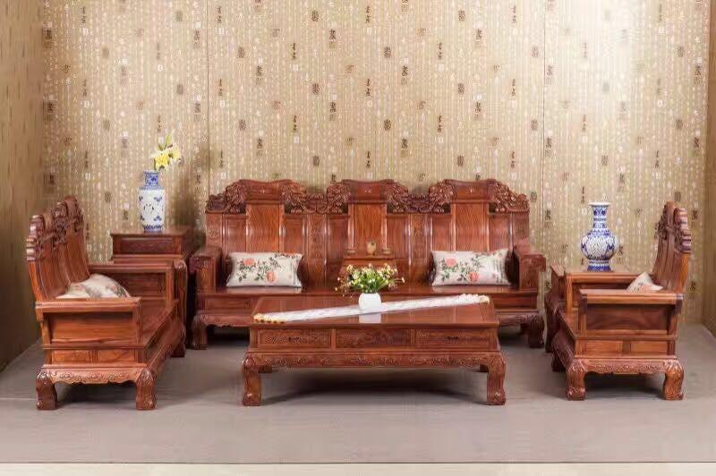 名琢世家供应的非洲花梨 客厅沙发6件套